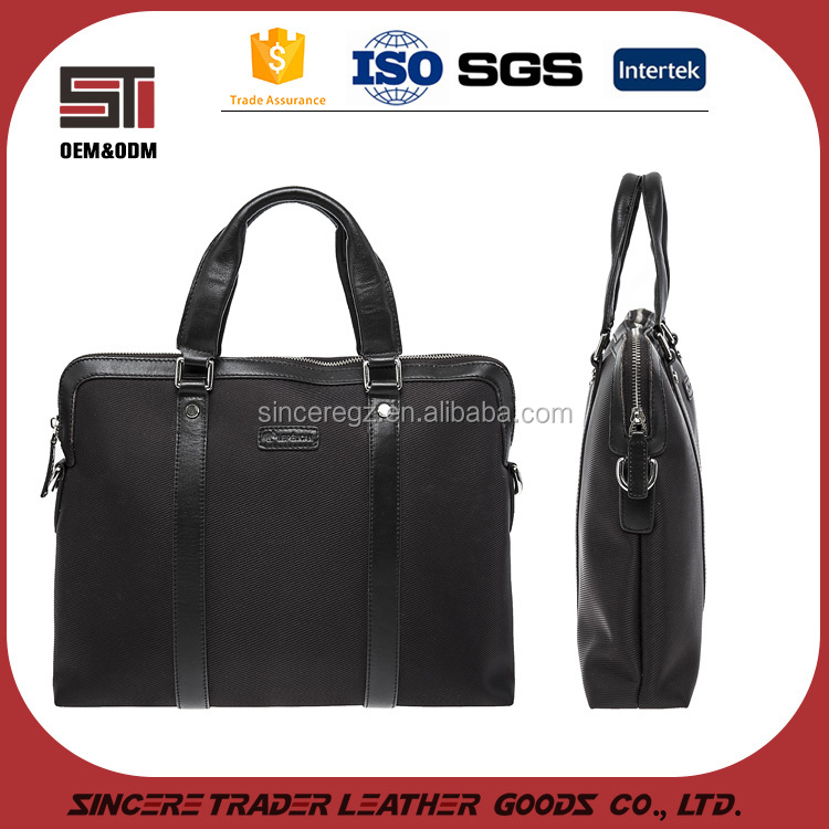 New <strong>design</strong> in stock men's business large nylon leather briefcase