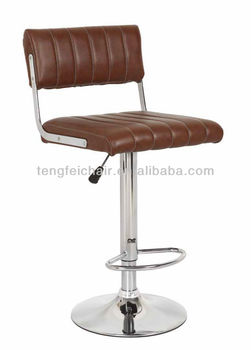 New PU bar chair with chroming base/ 360 degree and height adjustable/ all color TF-1029