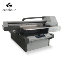 Aily 2018 newest modle outdoor uv flatbed printer 6090 for CMYK ,White ,Varnish