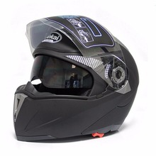Safe Flip Up With Double Lens Sun Visor Motorcycle Helmet JK105