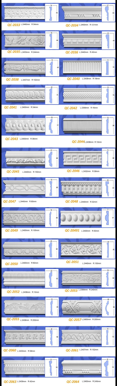 Decorative moulding for Construction & Real Estate