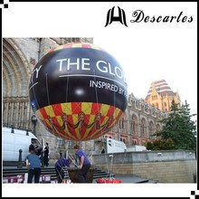 5m round printed giant inflatable helium sphere for parade events
