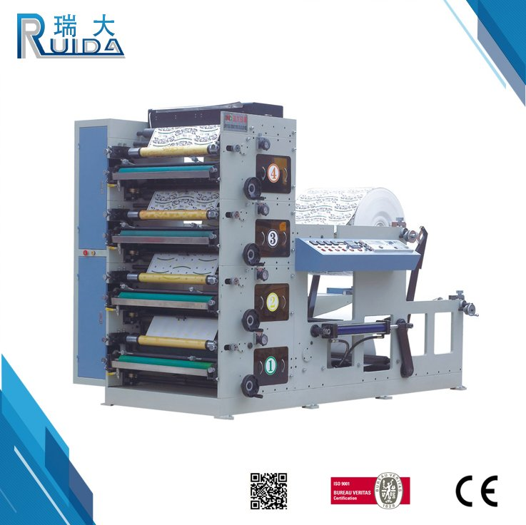 RUIDA New Style Cheap Price Automatic Four Color Paper Cake Cup Flexo Printing Machines