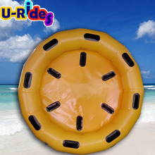 Green color floating round raft inflatable Round Boat