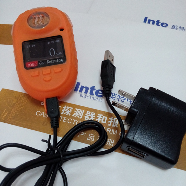Wearable gas meter O3 Ozone detector with two level alarm