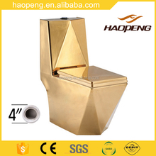 A-2389 Types Of Ceramic Water Closet Washdown One Piece Gold Toilet Commode