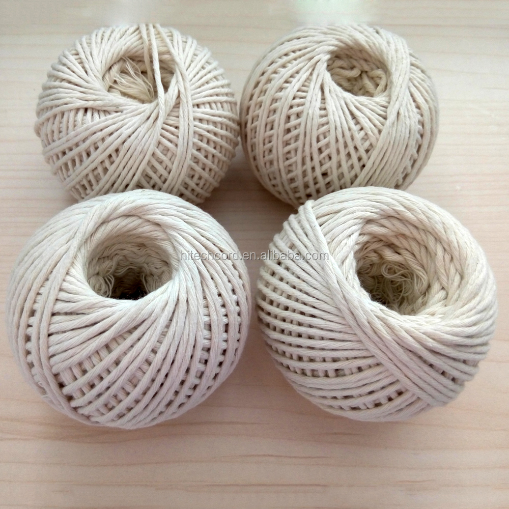 Natual color Agriculture 1.5 mm Packing Cotton Twine for tomato tree