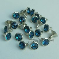 Leather crystal rhinestone decoration rivet custom metal rivet
