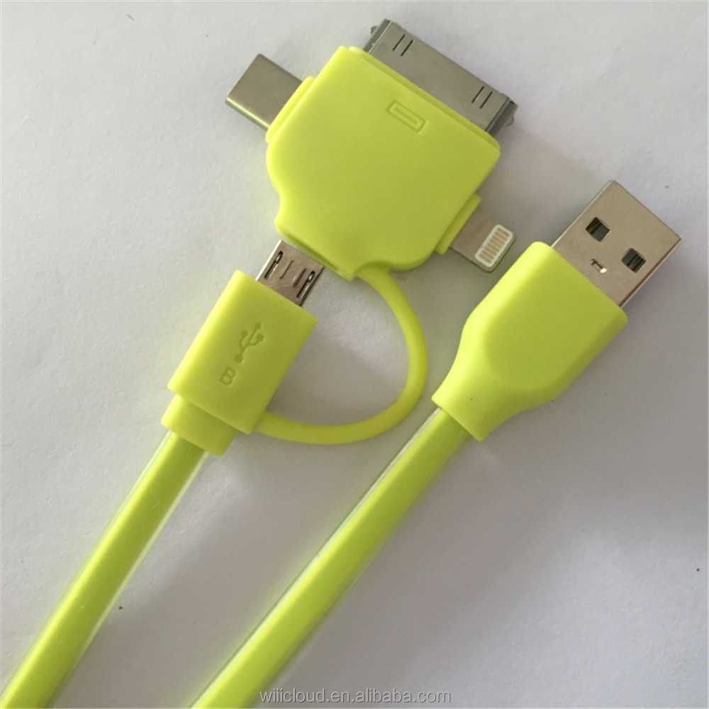 2016 usb promotional gift items, Multi-function cartoon usb charge cable,4in1 usb cable