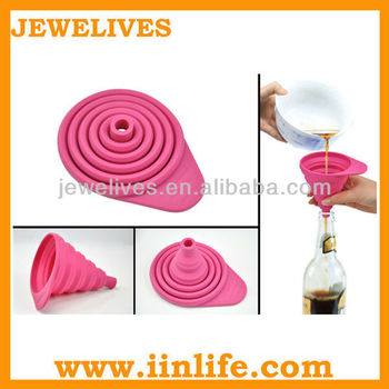 Silicone Foldable Funnel,Foldable Silicone Funnel/silicone utensil foldable funnel