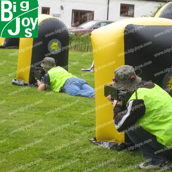 2013 New Games Of Inflatable Bunkers Paintball Inflatable Paintball Obstacle