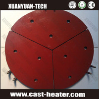 Electric heating element cast-in iron heaters