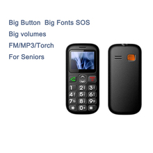 Amanki Factory 2G Cheap Cellphone FM/MP3/Torch 1.77 Inch Dual SIM Big Button Cell Phone For Old Men