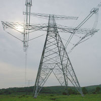 High quality certificated 110kv transmission line steel tower