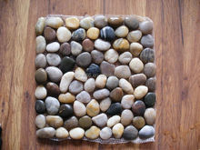 snow white pebble mesh mosaic tile,nature pebble mesh,LaiZhou Kingstone