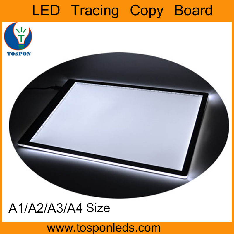 High quality A3 LED writing copy board / acrylic LED ultrathin light pad