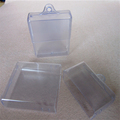 PVC square transparent plastic box with round hook