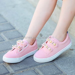 KS00266C New design high quality beads scrub kids shoes girls china wholesale shoes