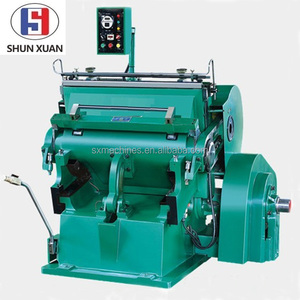 MLseries paper Die cutting and creasing carton box machine/die cutting machine semi automatic paperboard pressing Manual Die Cut