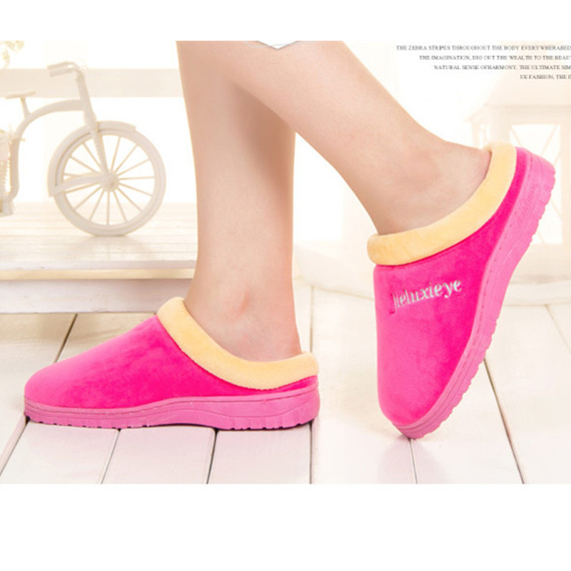 New winter cotton lady bag warm antiskid slippers slippers candy color female cotton slippers antiskid cotton shoes at home