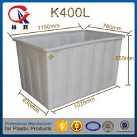 K400L Strong open top containment basin with bottom price plastic square water tank for storage