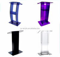 Acrylic Podium Lectern Church Pulpit with Angled Reading Surface