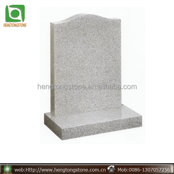 American simple style granite tombstone cheap