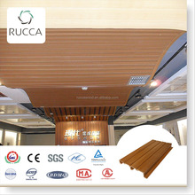 2017 Ruccawood WPC interior decoration types of pvc suspended false ceiling designs boards for bedroom