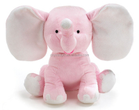 Free sample Cute Plush Colorful Elephant Soft Stuffed Wild Animal Toy With Big Ears,Pink Blue Grey elephants