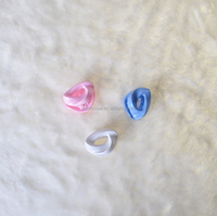 Fancy Christmas Kids Plastic Colorful Small Hair Claw .