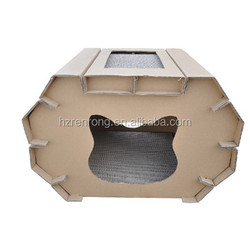 Factory directly selling environmental cat house cardboard with China supplier