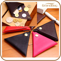 fashion classic square leather coin purse cute lady wallet genuine waxy leather for women