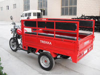 CARGO TRICYCLE RS200ZH-C WITH LONG SEATS IN CARGO BOX BOTH FOR CARGO AND PASSENGER