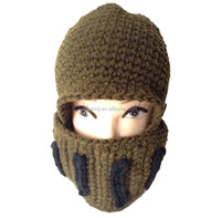 2015 New Custom Knittign Pattern Funny Winter Ski Face Mask Hat