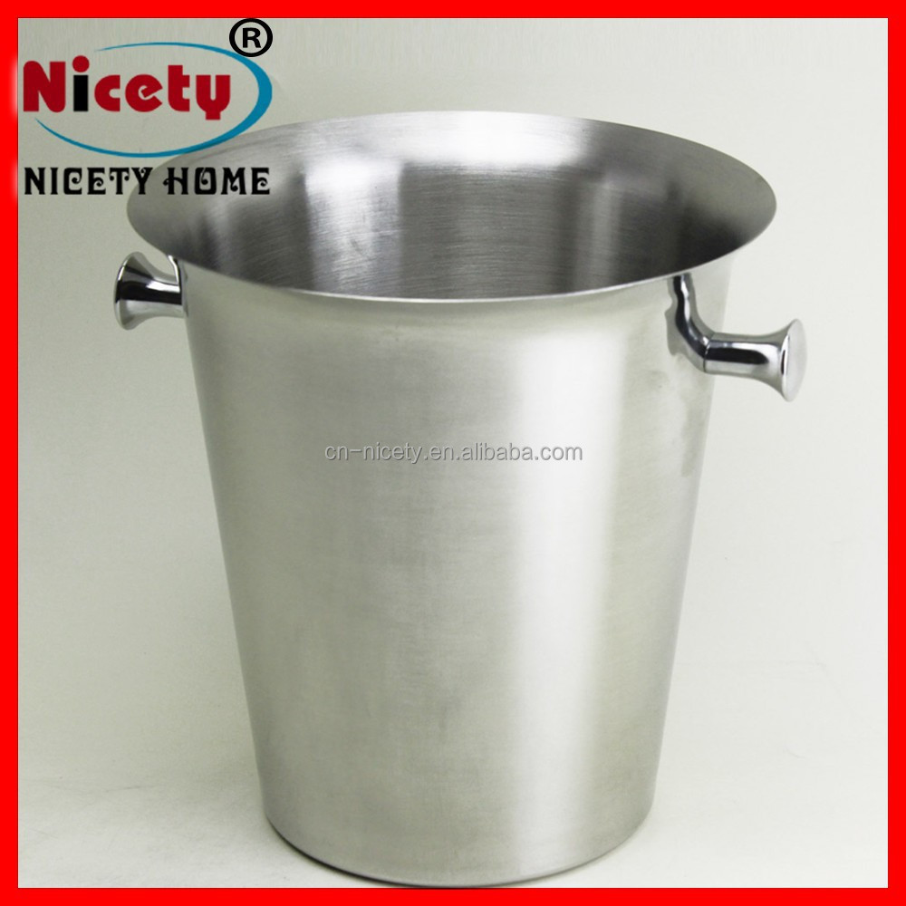 Wholesale Metal beer bucket beer bucket Stainless steel wine cooler