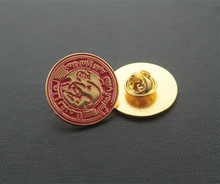 2014 new gold metal rotary badge