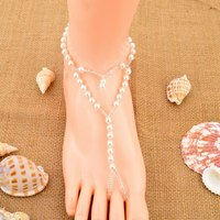 2016 New Product Women Summer Beach Peal Barefoot Jewelry Sandal Toe Anklet