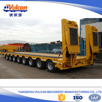 Supplier customized air bag suspension flatbed semi trailer chassis