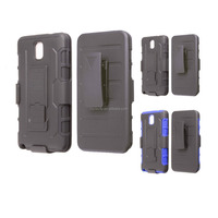 New Arrival Hard Silicon Belt Clip Holster Case for samsung galaxy note3
