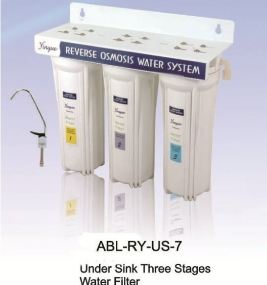 Under sink three stage water filter with faucet RY-US-7
