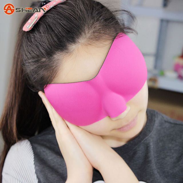 1 PCS 3d Portable Soft Travel Sleep Rest Aid Eye Mask Cover Eye Patch Sleeping Mask