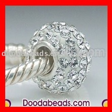 european style white crystal jewelry charm beads