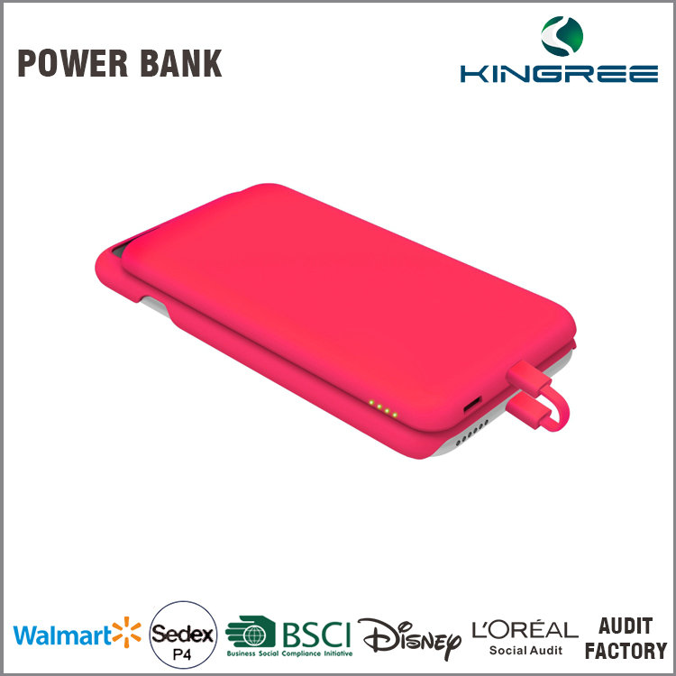Certified universal standard designed 5150mAh portable universal credit card power bank