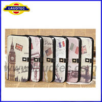 Cartoon Pattern Wallet Leather Case Cover With Stand for Samsung Galaxy Mega 5.8 i9150