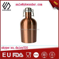 thermo flask water bottle and stainless steel beer growler copper