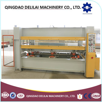 China wood hot press machine