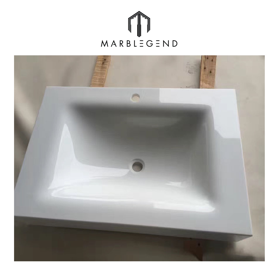 Artificial Nano Glass stone vanity set of countertops and wash basins