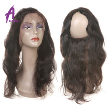 Factory vendor low price 360 lace frontal closure, Brazilian virgin human hair 360 frontal
