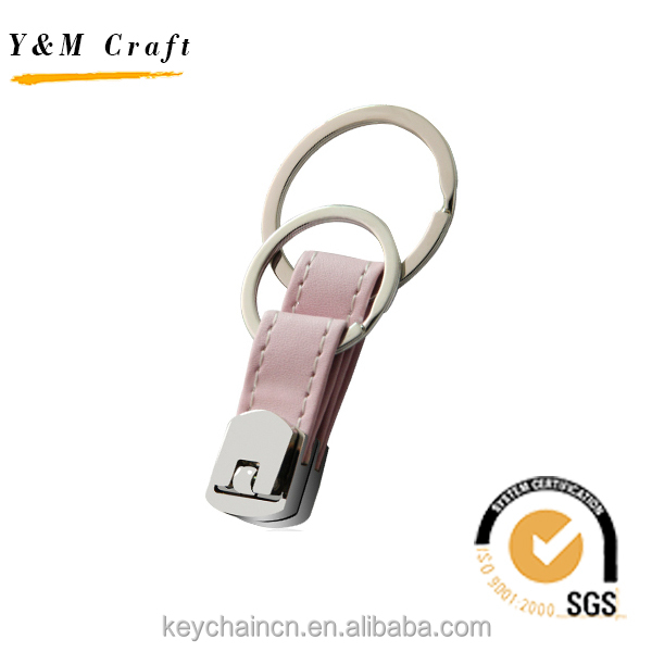 Handmade Costom Top Double leather Keyring Keys