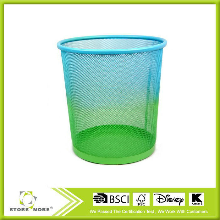 New Design Metal Round Garbage Waste Bin,Double Color